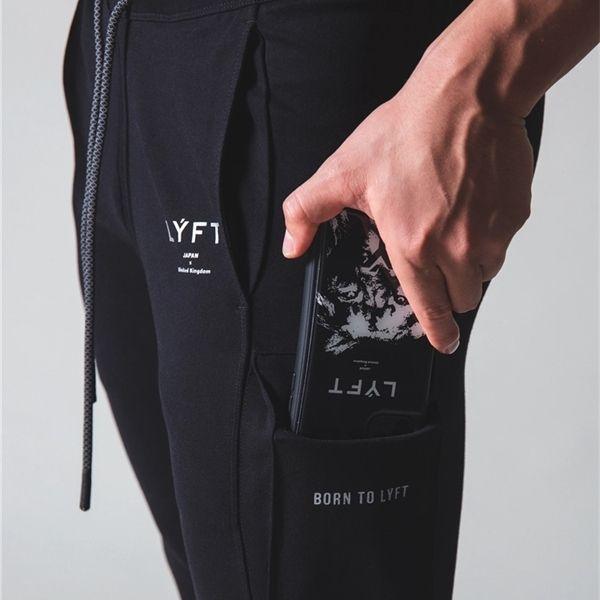 Yeni Koşu Koşu Erkekler Streç Kargo Pamuk Spor Mens Vücut Geliştirme Eğitim Pantolon Fitness Pantolon Spor C1118