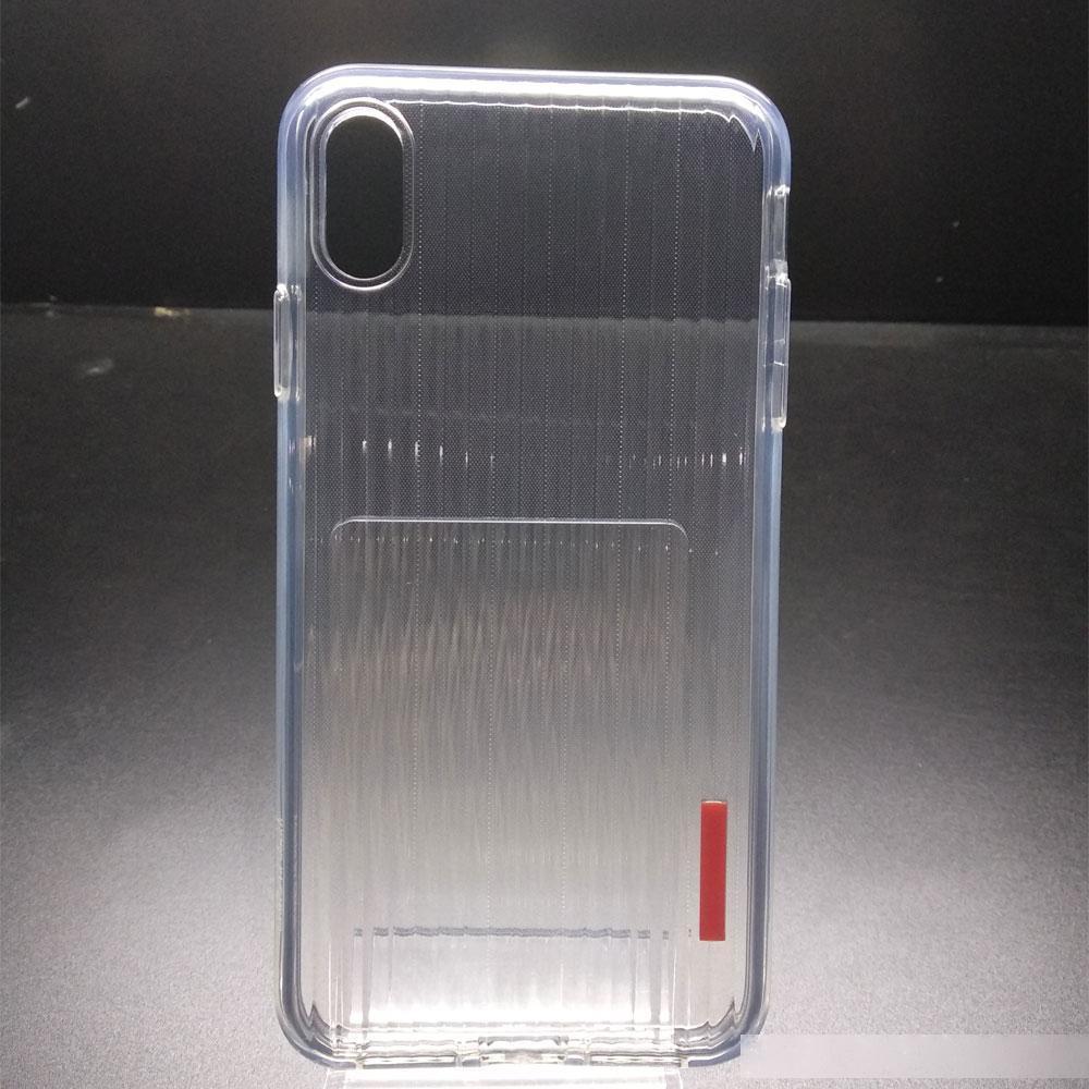 ODM OEM Case d'impact antichoc crystal Case transprente transprente Stripe TPU Soft TPU Coque arrière pour iPhone XS Max