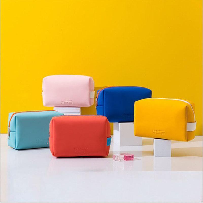 Мини-туалетная сумка для туалетных блюд женщин макияж сумка водонепроницаемая портативная поездка для хранения путешествий моды мода сосудистая косметика женский розовый
