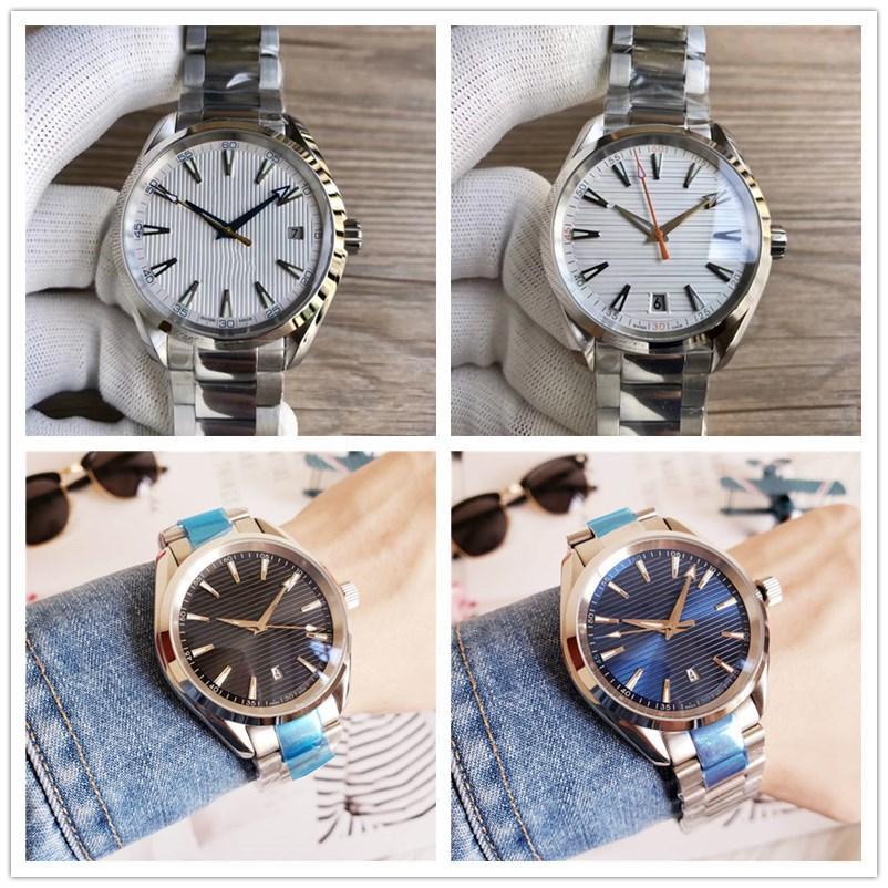 8colors pulsera de acero inoxidable Movimiento 41.5mm automática 150m hombre del reloj de pulsera de alta calidad con la caja