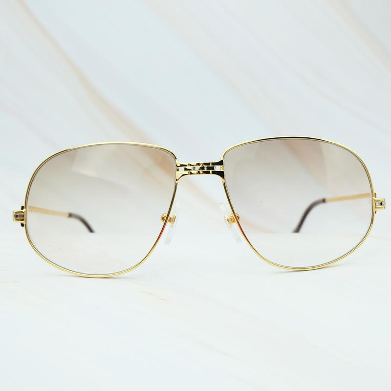 Marco de gran tamaño de calidad de lujo de lujo de lujo, gafas de sol, de gafas de sol, hombres de metal, alto carter, bgxij awsxb