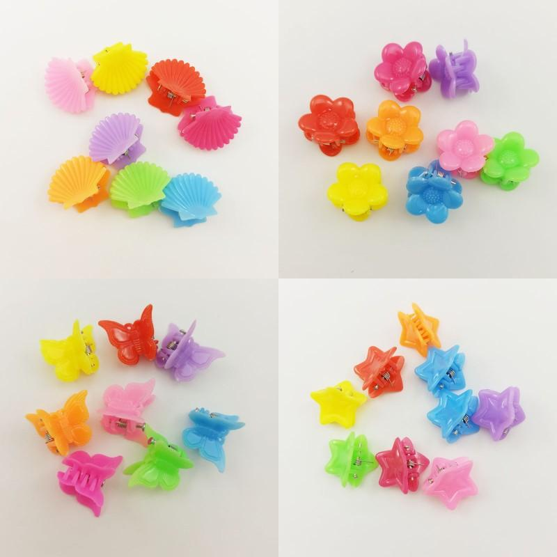 Children Mini Cute Colour Hairpin Butterfly Shell Flower Pattern Girl Claw Clips Baby Fashion Hair Accessories 0 06hl J2
