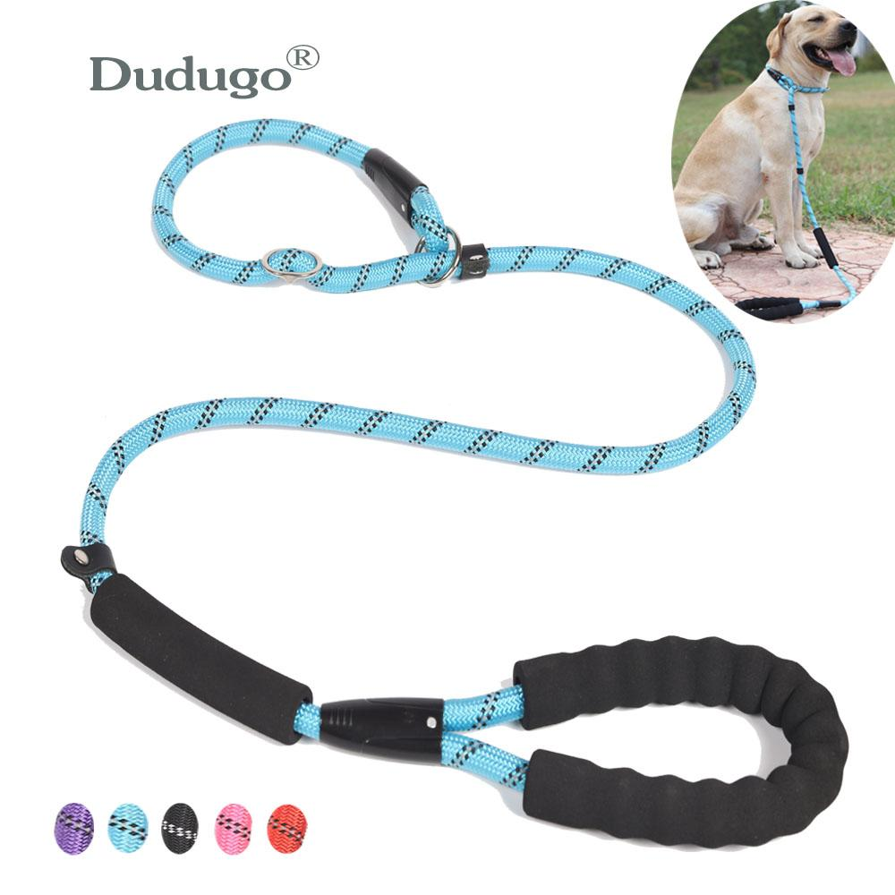 كلب كبير حبل عاكس الرصاص المقود 5 اللون النايلون الأساسية المقاود المتوسطة الكلب المشي كبير الكلب طوق ل labrador rottweiler