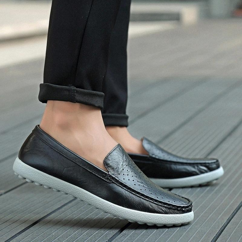 Men Loafers Shoes Handmade Slip-On genuine Leather Moccasins Sneakers Male outdoor casual Comfortable Shoes Zapatos Hombre #6771