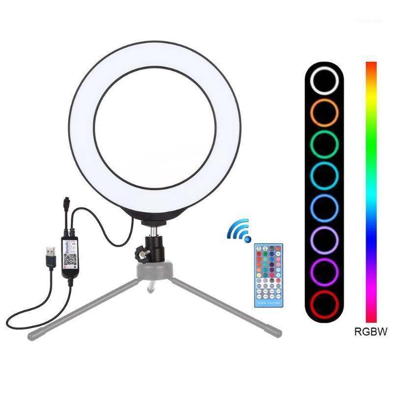 Puluz 4,7 polegadas Dimmable Ring Fill Light USB RGBW Fotografia Vídeo Encerrar Light Selfie Studio Light Lighting1