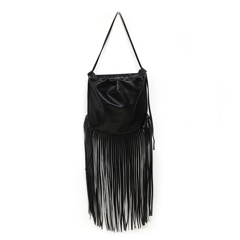 Top Fashion Designer Bolsas de la bolsa de la borla Fringe larga para mujer Bolsa de hombro Crossbody Bolsos PU Cuero Vintage Bolsos de las mujeres bolsos