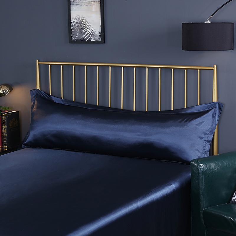 Çok Renkli Tasarım Öykünme İpek Saten Uzun Yastık Kılıfı Yastık Kapak Yastık Kılıfı Sağlıklı Standart 48 * 120 cm / 48 * 150 cm #sw Y1221
