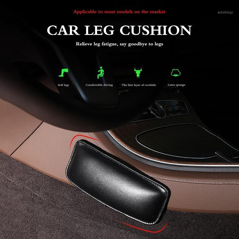 Seat Cushions Universal Car Foot Support Pillow Leather Leg Pad Knee Thigh Breathable For Center Console Door1