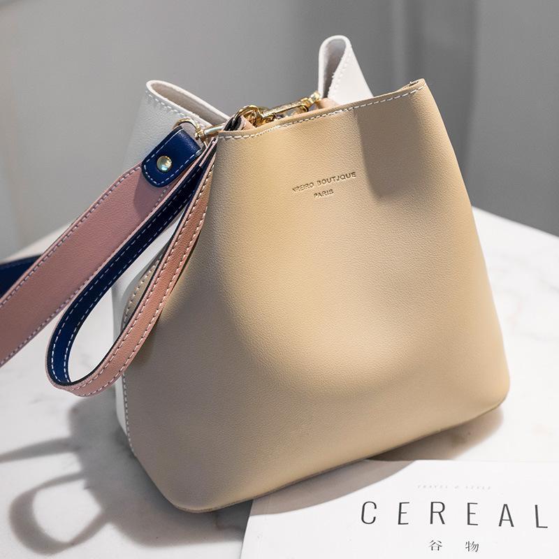 HBP 메신저 가방 양동이 가방 핸드백 지갑 새로운 디자이너 여성 가방 고품질 패션 인기있는 간단한 어깨 가방 히트 색상