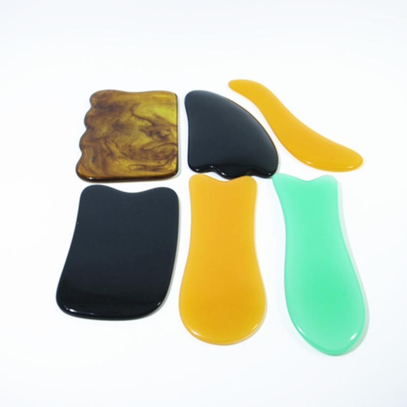 Natürliches Harz Guasha Board Massage Werkzeug für Nacken Zurück SPA Therapie GUA SHA Massagegeress Antistress Körperpflege Scrabing Board1