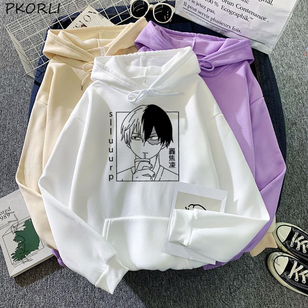 Anime Boku Nein mein Held Akademie Shoto Todoroki Hoodies Frauen Moleton Cosplay Hoodie Anime Harajuku Bakugou Herbst Wintermantel Y1209