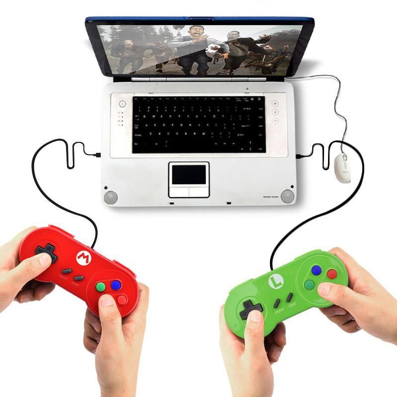 Игра Контроллеры Джойстики USB Джойстик для Snes GamePad Версия Контроллер Windows PC Mac Computer