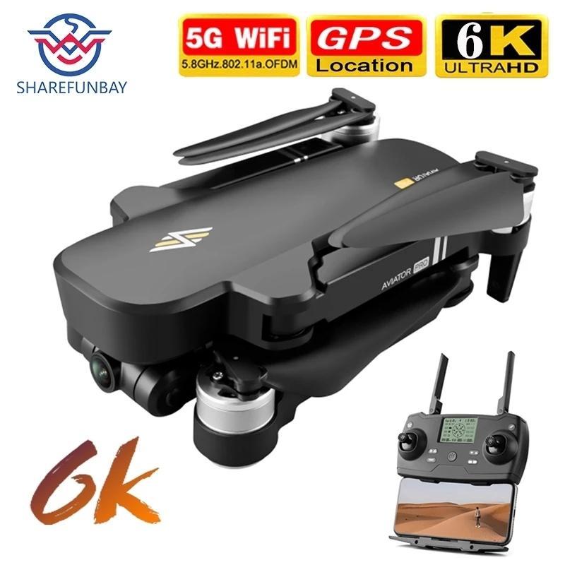 NEW 8811 PRO 6K GPS Drone 4K HD широкоугольная камера 5G WiFi передача Двухоси PTZ Бесщеточный мотор дистанционного управления расстояние 1 км 201208