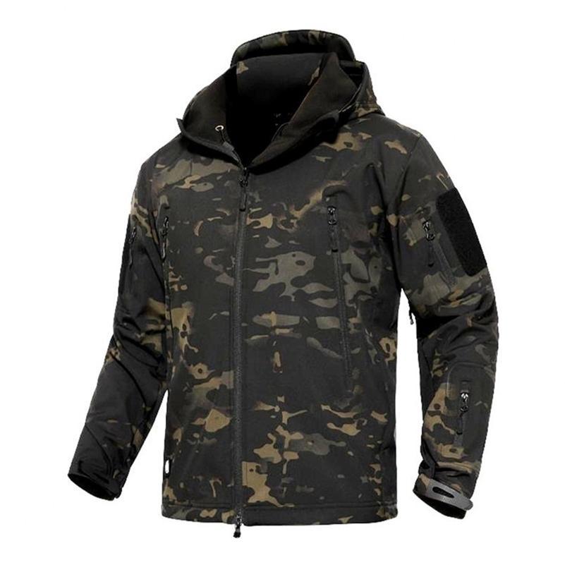 TAD INVERNO TERMICA FLEECE ARMY MOPFLAGGIO Giacche impermeabile uomo tattico militare caldo antivento giacche multicolor 5xl cappotto 201127