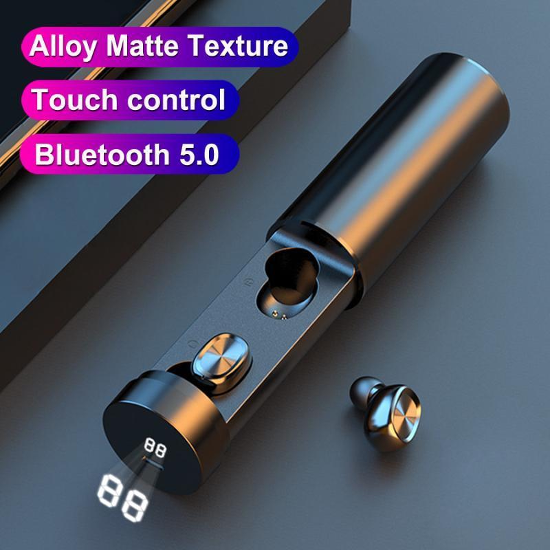 B9 Bluetooth Headset Digital Display Binaural Fone de Ouvido Esportes Headphone Headset Transfronteiriço Multifuncional Multifuncional