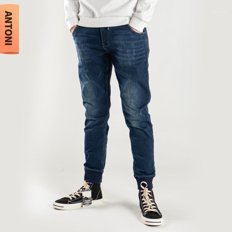 Shabiqi 2020Jeans Мужчины прямые брюки мужские классические джинсы мужские джинсовые джинсы дизайнерские брюки повседневные шикарные модные брюки упругости1