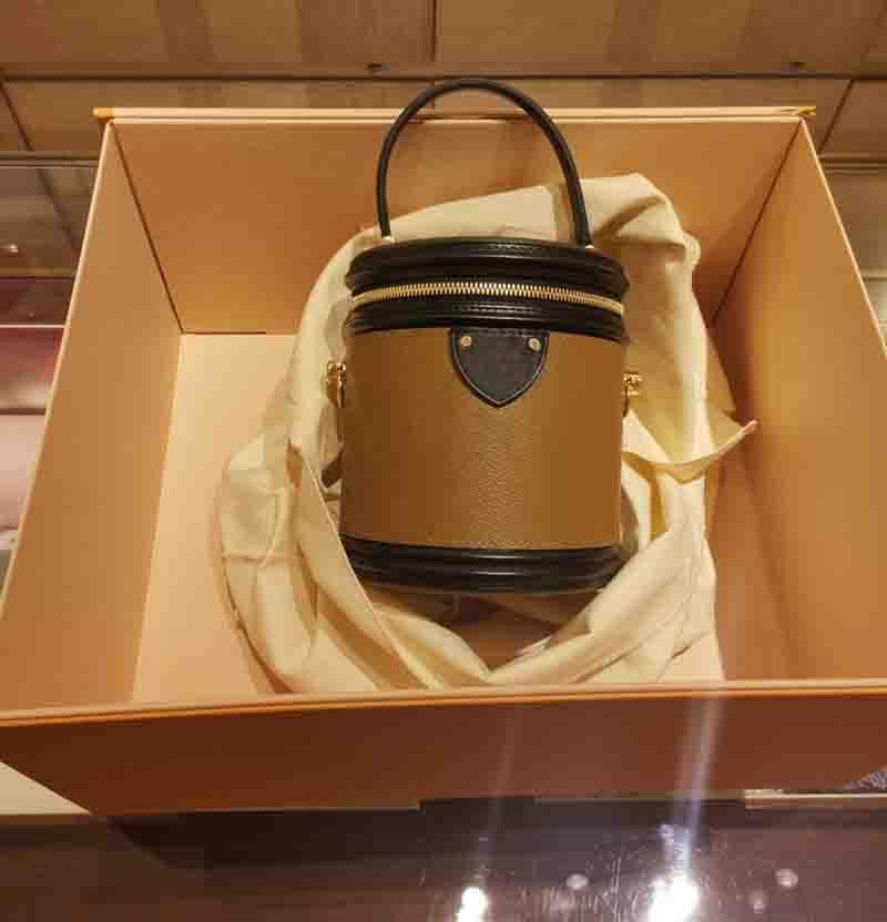 Eimer Bag Hohe Qualität Leder Umhängetasche Klassische Design Crossbody Bags Lady Sylvie Handtaschen