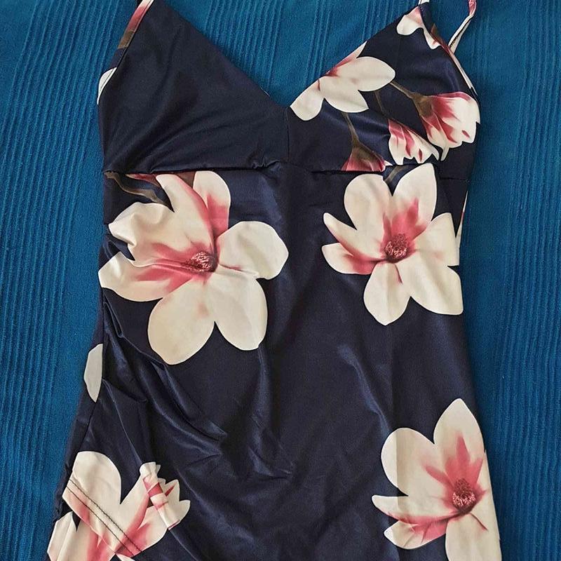 Moda Tasarım Bayan Elbiseler Çiçekler Baskılı Süper Rahat Luxe Kısa Kollu Ince Robe Bodycon Elbise Bayanlar Rahat Etekler