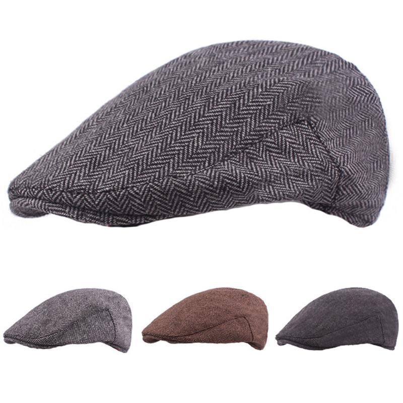 Мужчины классические зимние теплые берцы вождения гольфа Cap случайные Cabbie Newsboy шляпа New Hatcs0241