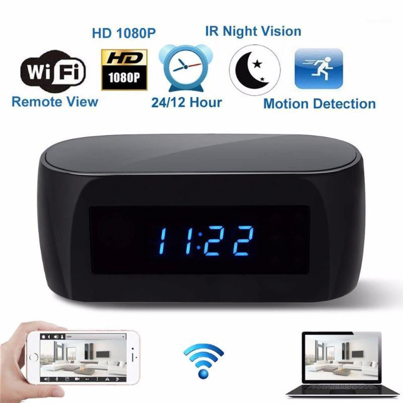 EE. UU. UE Reino Unido Enchufe HD 1080P Cámara WIFI Cámara Reloj de alarma con detección de movimiento IR Night Vision Security Video en tiempo real NAnny Clock1