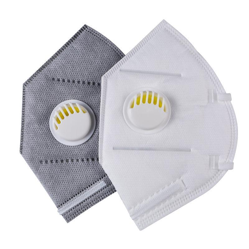 DHL ¡Envío libre! KN95 Máscara con máscaras de la válvula gris y blanca máscaras reutilizables individuales de embalaje en mascaras a prueba de polvo para adultos kn95