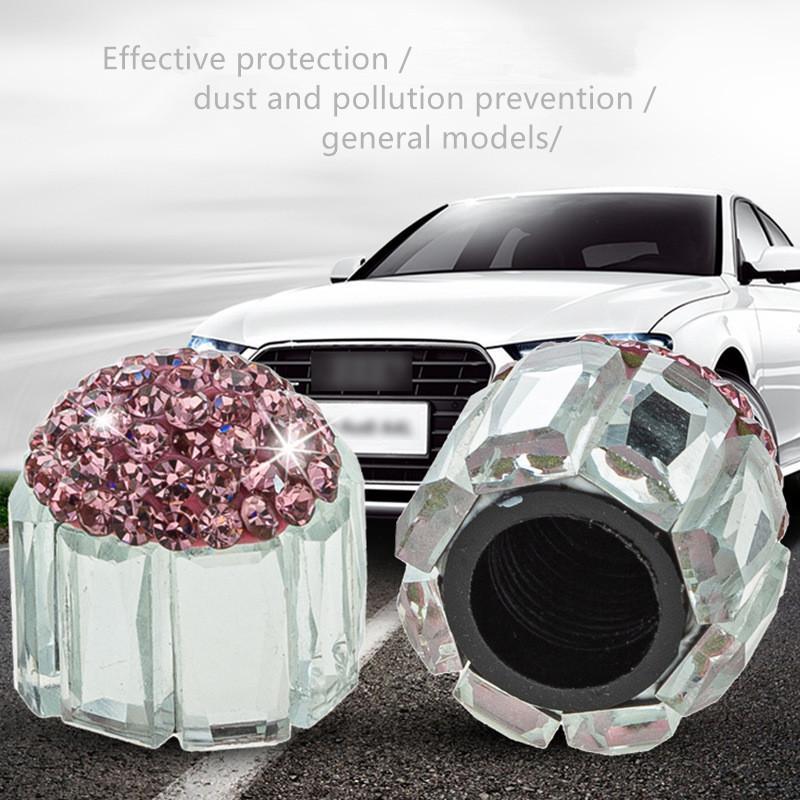 New diamond-studded valve cap, cross-border creative modification of valve core, Universal automotive supplies