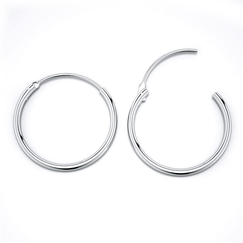 Geometría brillante Círculo redondo 925 Pendientes de plata esterlina para mujeres Kolczyki Damskie Hoop Pendientes Pendientes Mujer