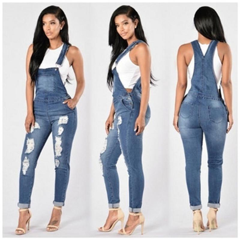 Женские отверстие тощий слинг джинсы мода Trend кнопка карманные женщины динамики брюки дизайнер осень женские новые повседневные тонкие джинсы