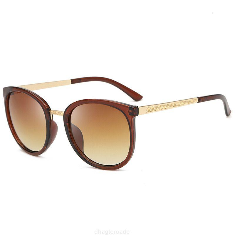 3126 Ultra Große Rahmen Runde Metall Xiaoxiang Bein Anti ultraviolett Sonnenbrille Für Männer und Frauen