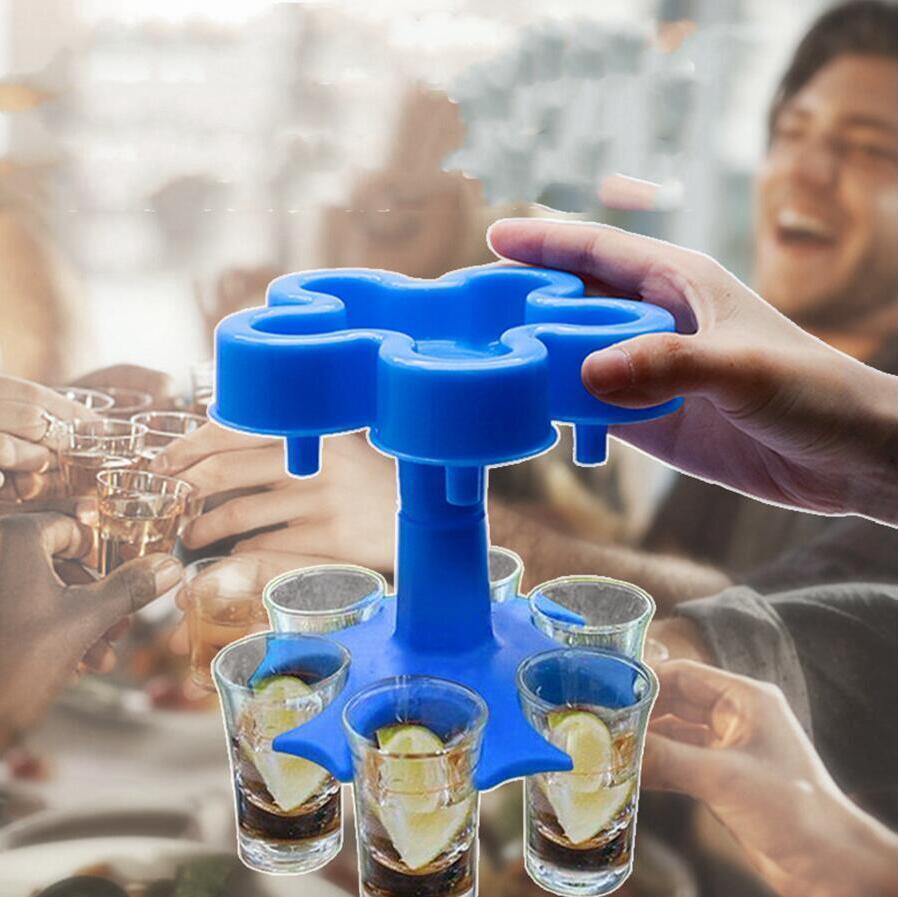 5 النار 6 طلقة نظارات موزع البيرة النبيذ المشروبات موزعات بار سريعة موزع أداة عيد ميلاد حزب drinkware دون كأس LJJP829