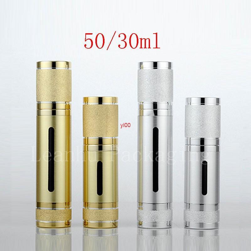 24 stücke 30g 50g Leere Airless Creme Lotion Reise Flaschenpumpe Kosmetika Flaschen, leerer Behälter mit Pumphigh-Qualität