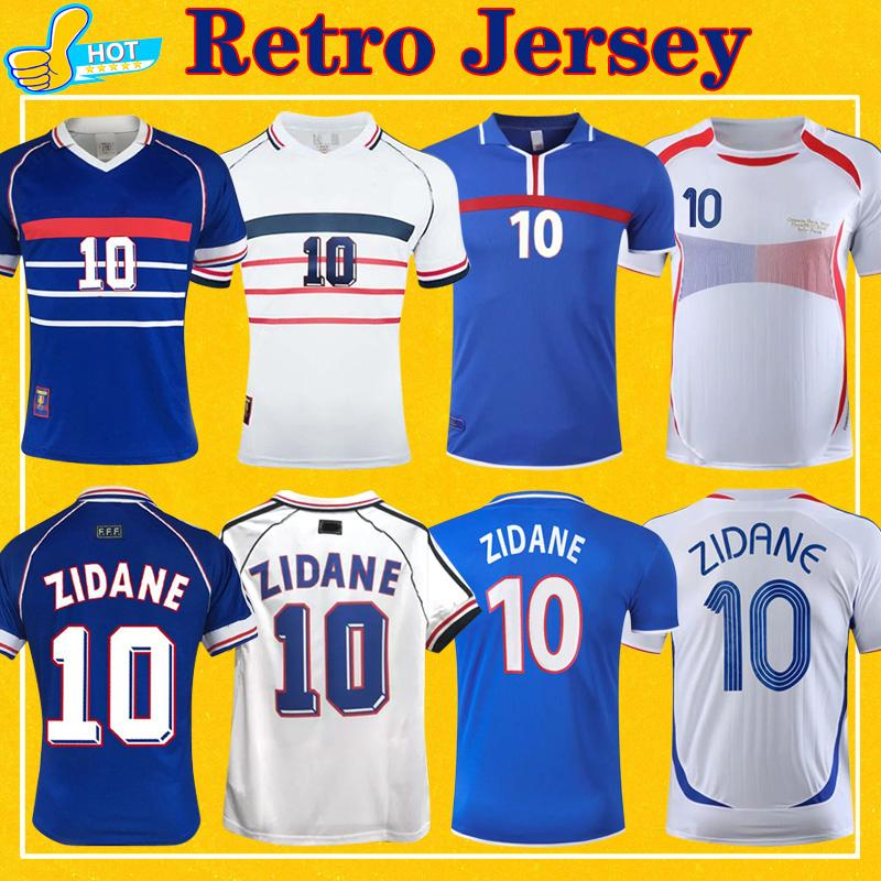 ريترو زيدان هنري بلاتيني لكرة القدم جيرسي 1984 1998 2000 2000 - ريبيري فييرا الوطني 84 98 00 06 قميص كرة القدم الكلاسيكي
