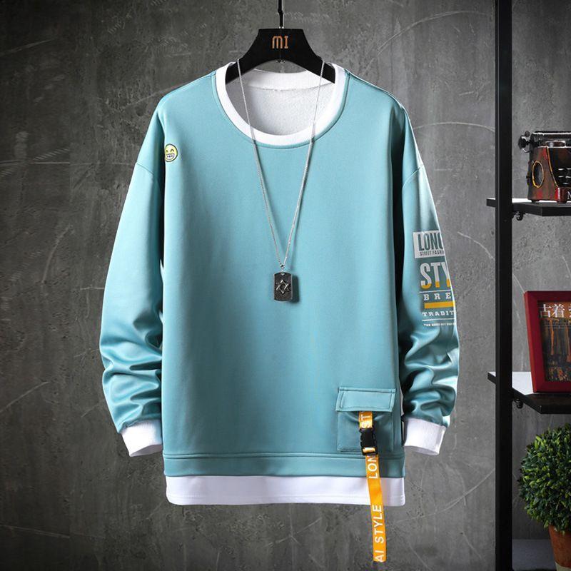 HIP HOP 2020 Solid Color Sweatshirt Men Hoodies Spring Autumn Hoody Casual Janpanese Streetwear Clothes Y200704