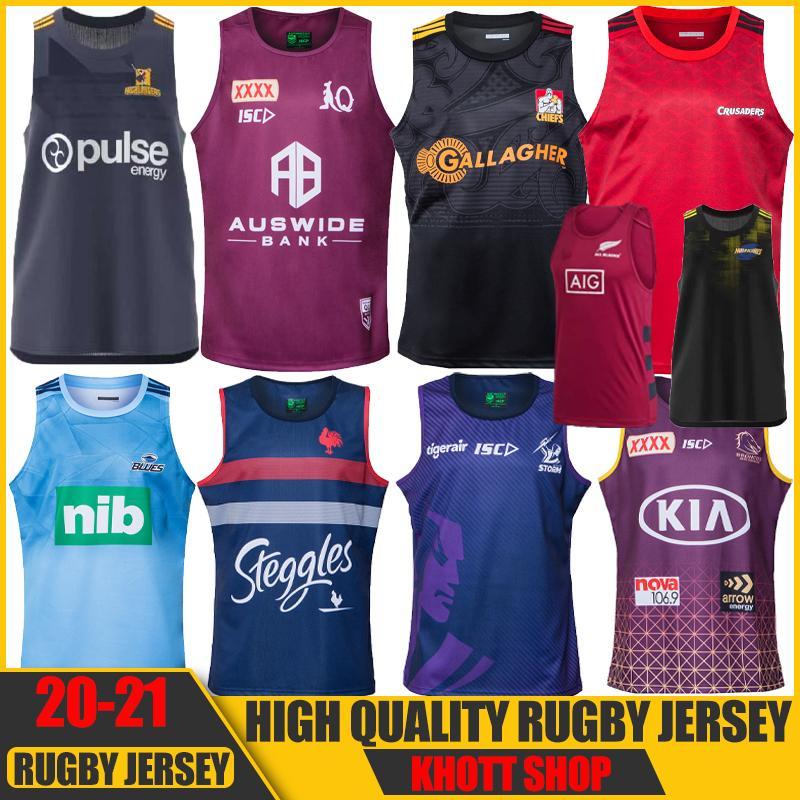 2020 2021 Crusaders Blues Highlanders Hurricanes Zealand Super Rugby Jerseys Gilet Vest Tops Training Shirts S-3XL