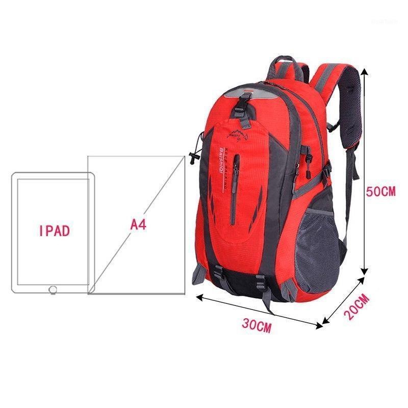2020 40L Outdoor Bag Sport Reise Bergsteigen Rucksack Camping Wandern Trekking Rucksack Reisen Wasserdichte Fahrrad Umhängetaschen1