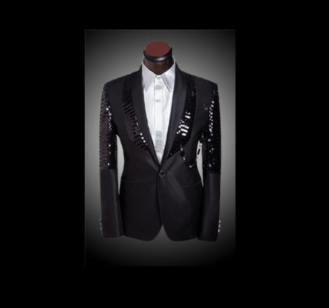 new arrival men slim fit suit mens suits with Pants Black Sequin shiny Blazer Jacket wedding tuxedos men's suits