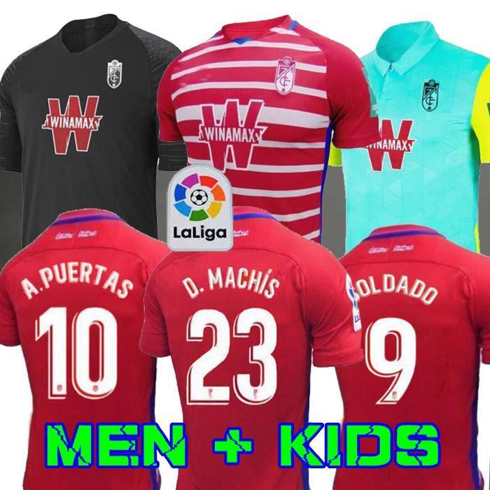 2020 Новая Гранада Футбол Футбол 19 20 Гранада Клуб де Футбол Джерси # 18 Хоселу # 15 Педро # 11 Machis Soldado Puertas Футбольная футболка
