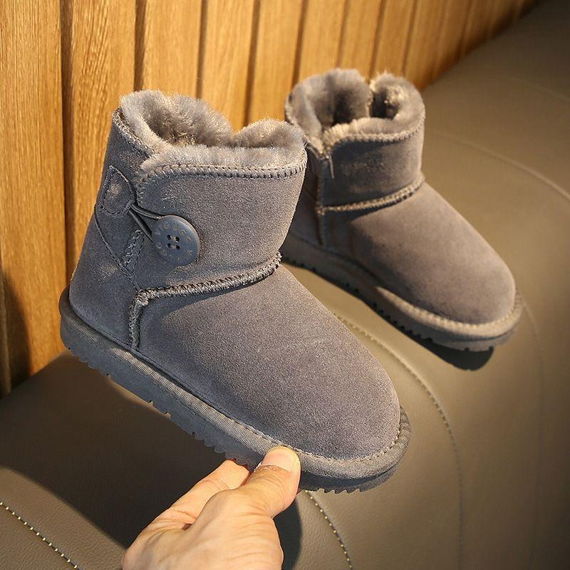 XFIQ Schnee Frauen Bootswinter Schneeschafe Leder Natual Stiefel mit Schafpelz 2020 Lady Echte Schuhe Mom Kids Matching Schuhe LJ201030