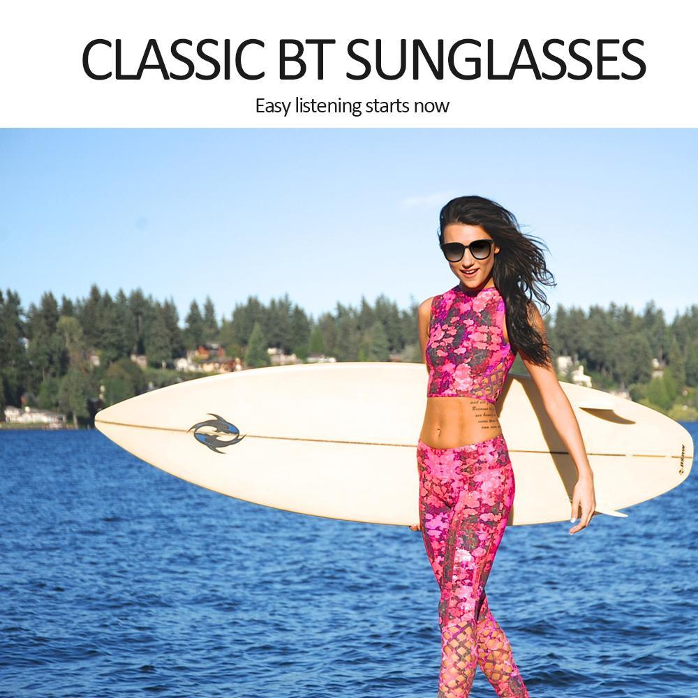 2021 الرجال النساء النظارات الذكية بلوتوث زر التحكم التكنولوجيا مصمم نظارات شمسية خالية من الدراجات