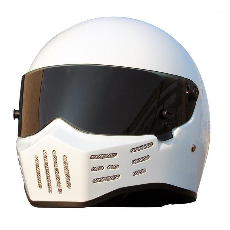 Motosiklet Kaskları 2021 Motor Kask Fiberglas Tam Yüz Erkek Kadın Retro Motocross Kıyıcı Kafa Giyim Kapak Koruyucu1