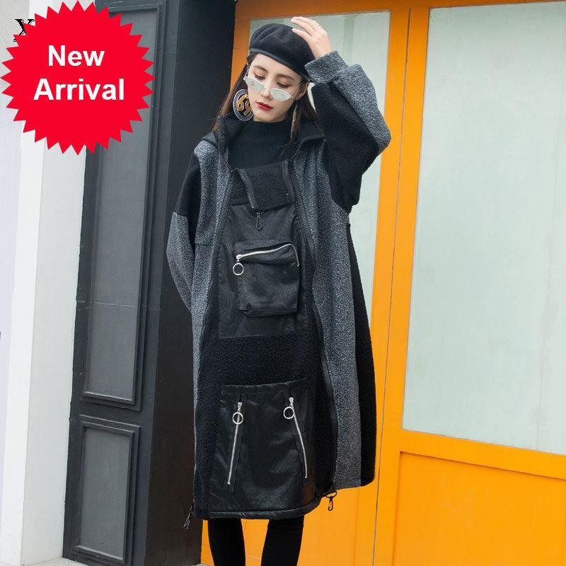 Xitao Patchwork Mode Neue Frauen Full Sleeve Pocket Goddess Fan Casual Stil 2020 Winter Lose Hoodies ZY2649