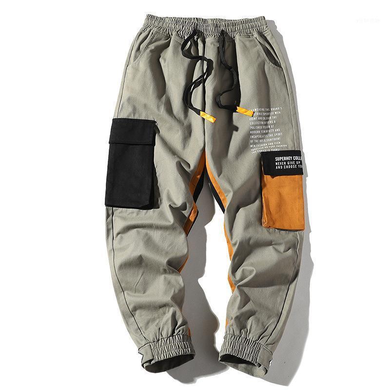 Мужские брюки осень трек мужская повседневная хип-хоп Trend Wild Loods Multi-карманные ноги MEN1