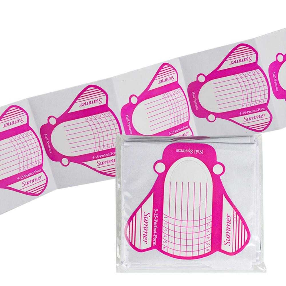 30 adet / takım Nail Art Formları Malzemeleri Araçları İpuçları Akrilik UV Jel Uzatma Profesyonel Kare Tırnak Formu Kelebek Manikür SA228