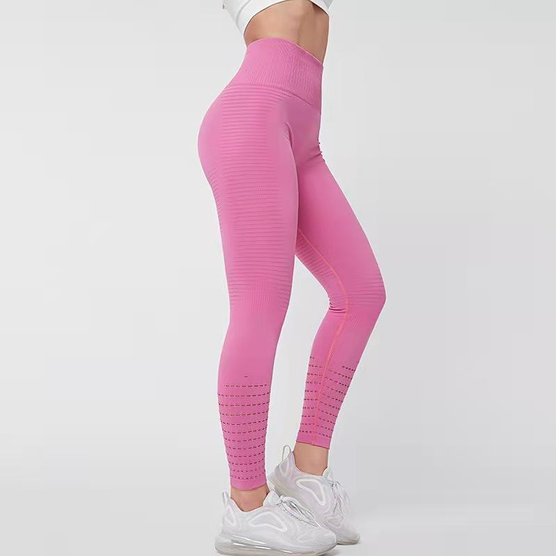 Новые европейские и американские высокие талии сетки плотные брюки йоги Быстрые сушки дышащих спортивных брюк персик бедра фитнес брюки 004