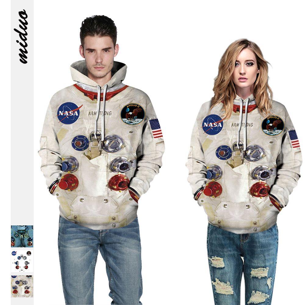 3colour S-3XL 2021NEW SPACESUIT 디지털 인쇄 커플 복장 후드 스웨터 느슨한 가을 및 겨울 야구 유니폼 38599637597818