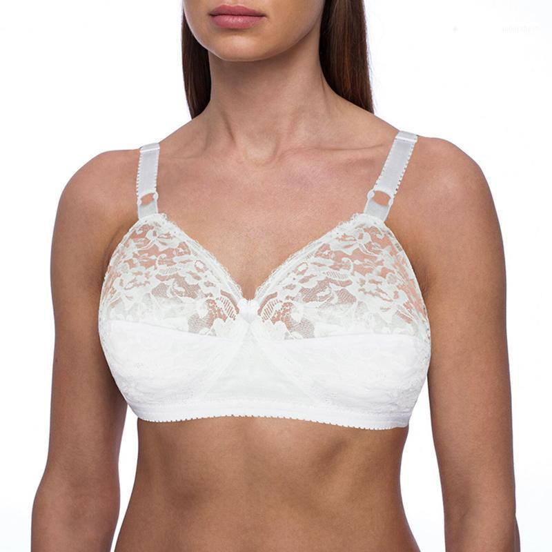 Bras TELIMUSSTO Selling Embroidery Large Size For Women Sexy Lingerie Wireless Lace Bralette Ultra Thin Minimizer B C D E F1