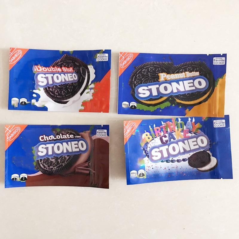 Mylar Bags Cookies 500mg Geruchsdichte Storage Edibles Paket 4 Typen Verpackung für trockene Kräuterblume ABC