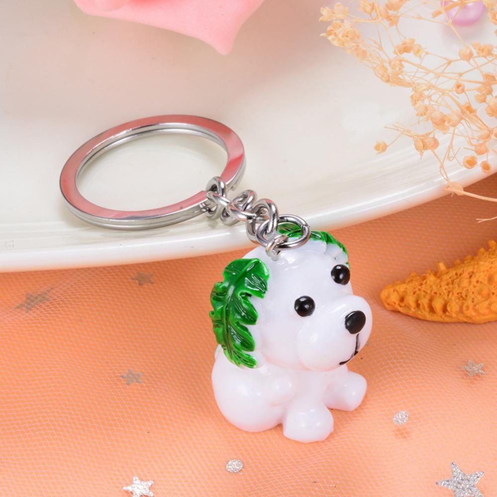 50 штурок 3d смола милая собака цепочка для любителей животных брелок ключ держатель подарок для женщин девушка сумка подвески брелок