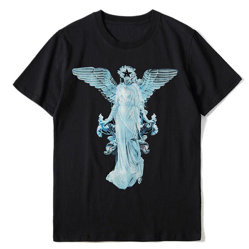 Fashion Mens Pattern Print T Shirts Black Fashion Men Women High Quality Short Sleeve Tees S-XL