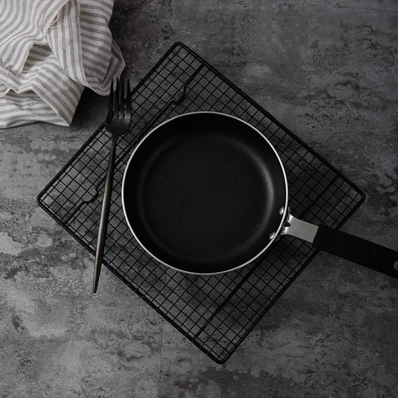 Siyah Izgara Pişirme Tepsi Standı Bisküvi Çerez Pasta Ekmek Kek Raf Soğutma Raf Ateş Aksesuarları Fotoğraflar için Fotoğraflar Fotoğraflar